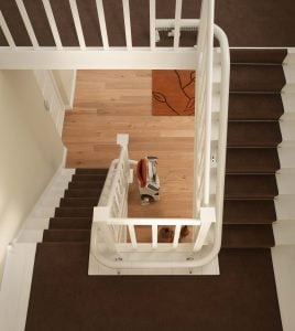 The Flow 2 stairlift can tackle even the tightest corners