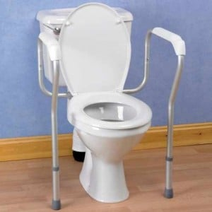 A toilet surround is well-suited to preventing falls in the bathroom but the design can feel clunky and intrusive