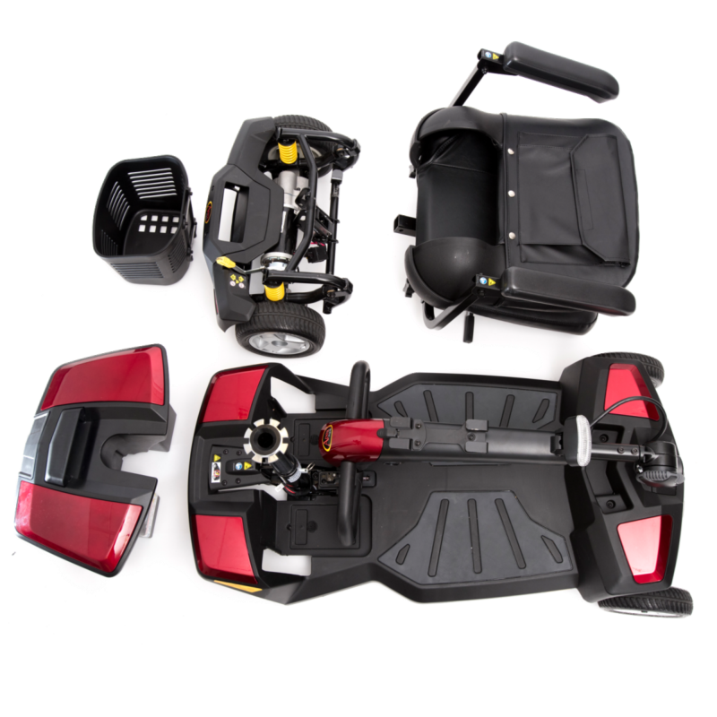 A disassembled folding Apex Rapid that is ideal for getting mobility scooters into cars