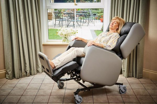 Chairs covered in cool material feel better for people with arthritis who often report that their joints feel hot.