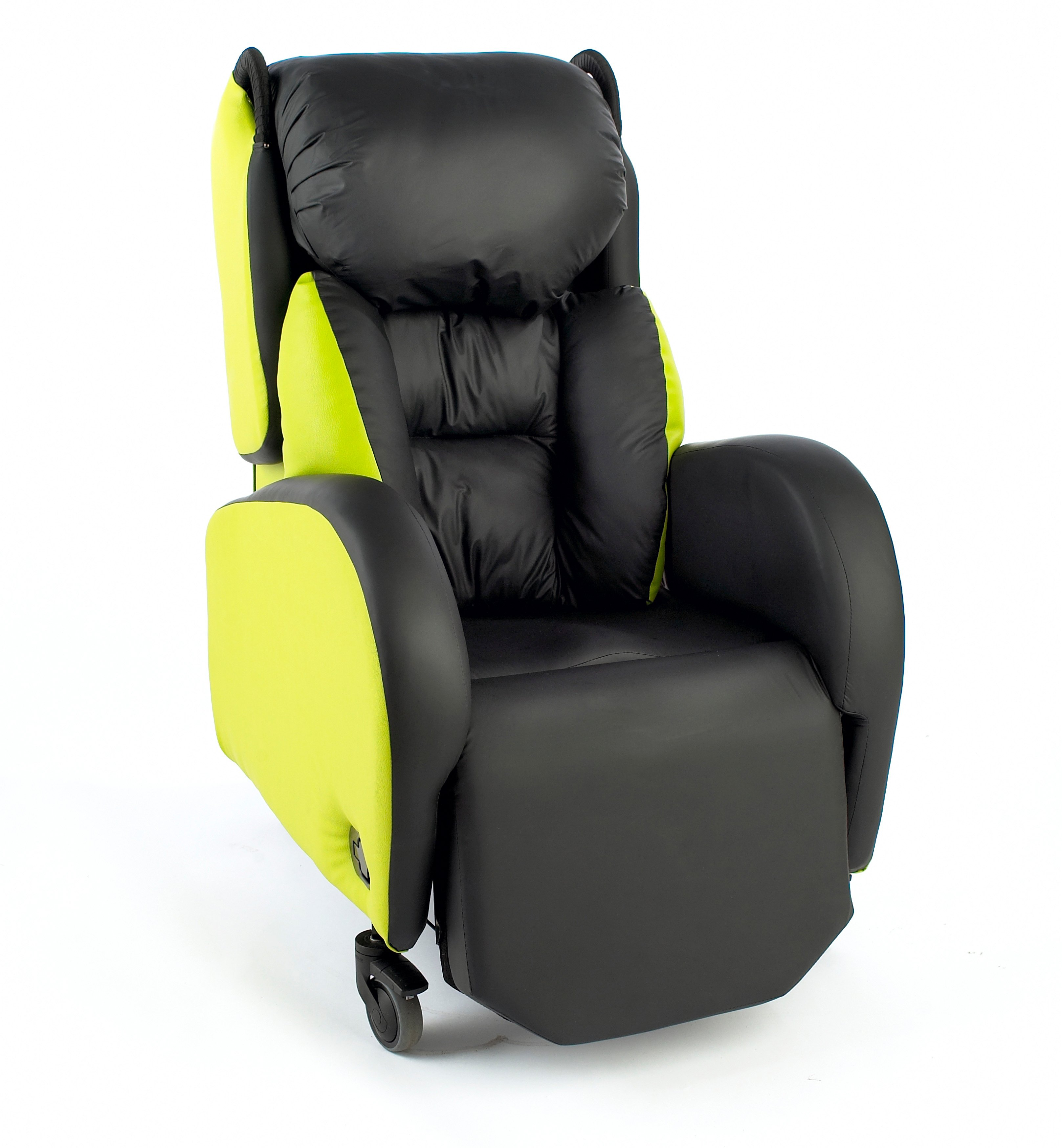 A Legacy care chair with lateral supports down either side of the backrest is a great chairs for people with multiple sclerosis