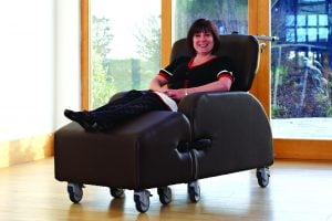 Omegas are perfect care chairs for people with Huntington's Disease