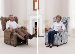 The Copgrove rise and recline chair is a great example of specialist seating for the elderly and people with arthritis