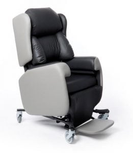The Lento care chair is built to use with hoist systems
