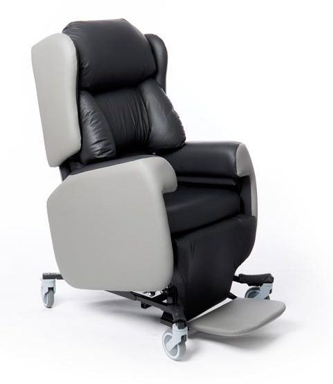 The Lento care chair with a lateral backrest
