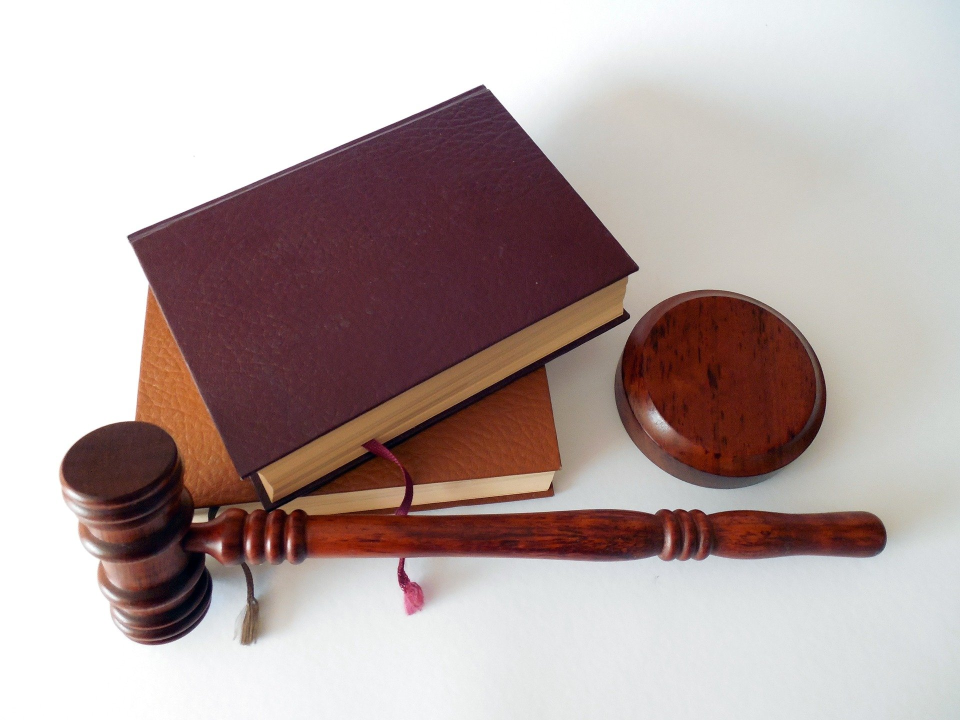 Some books and a gavel.