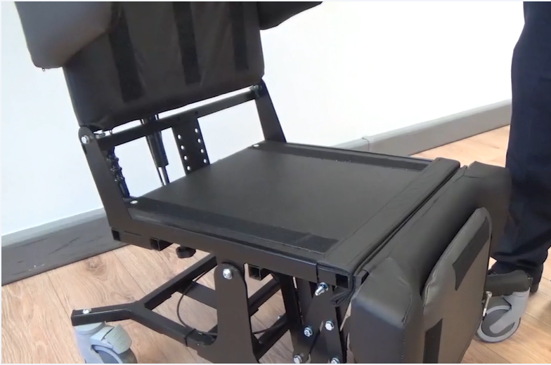 The cushions can be removed from the Little Lento special needs chair for easy cleaning